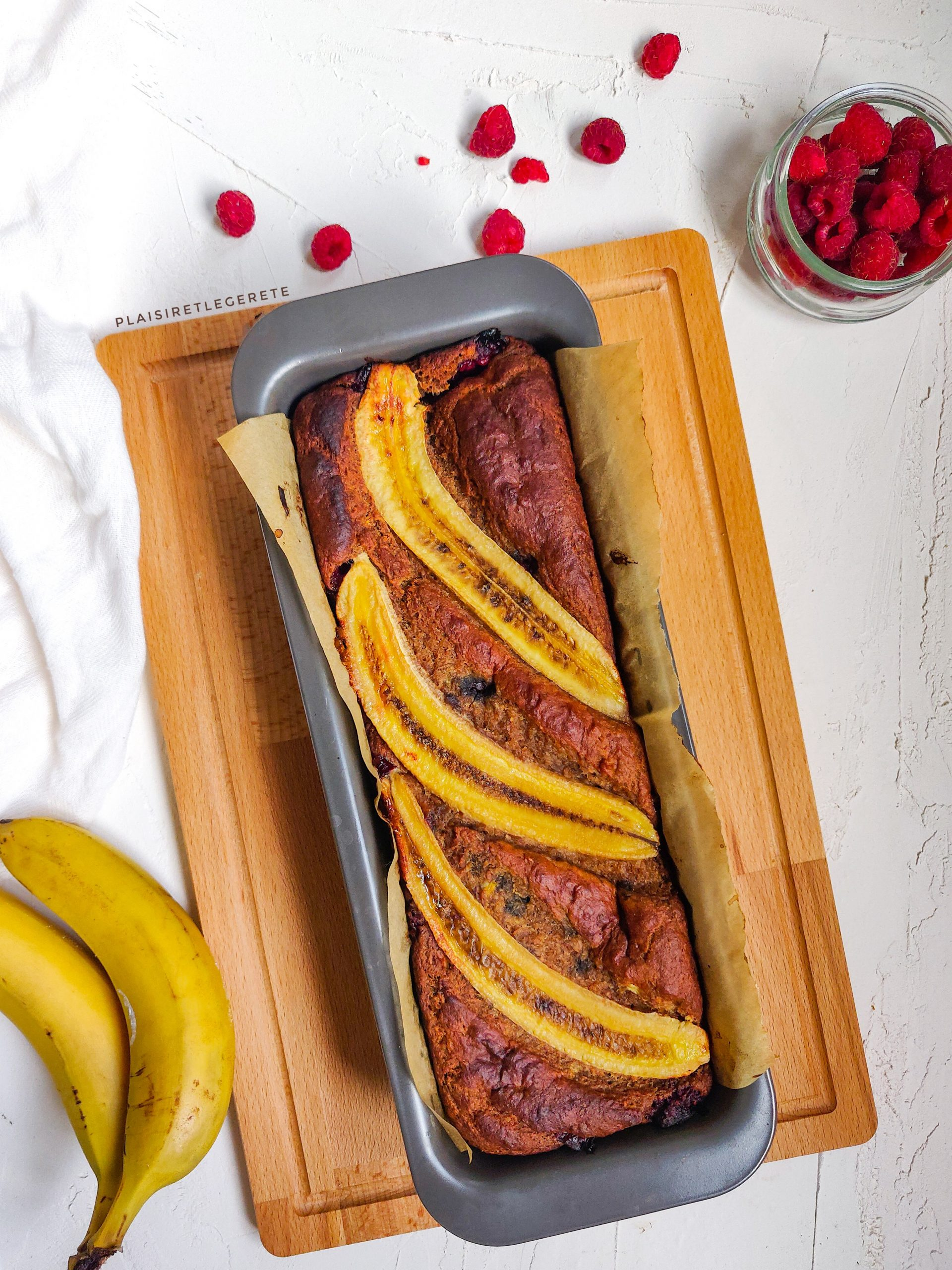 You are currently viewing Banana bread à la framboise