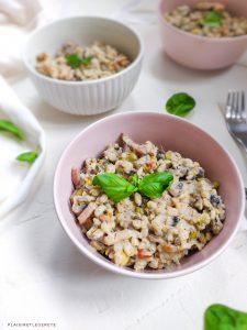 Read more about the article Epeautre, légumes secs et soja façon carbonara