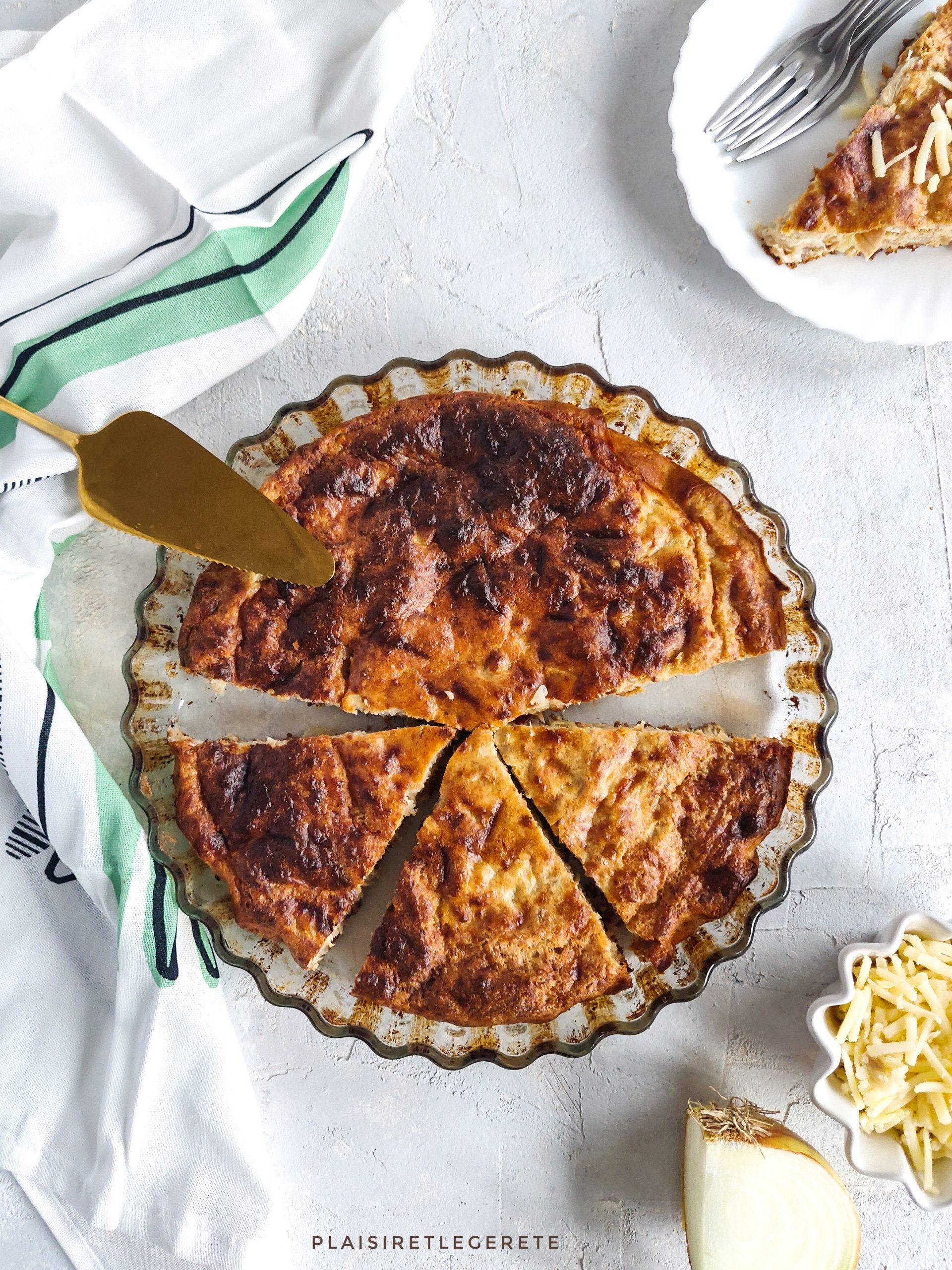 Read more about the article Quiche sans pâte au thon et au comté