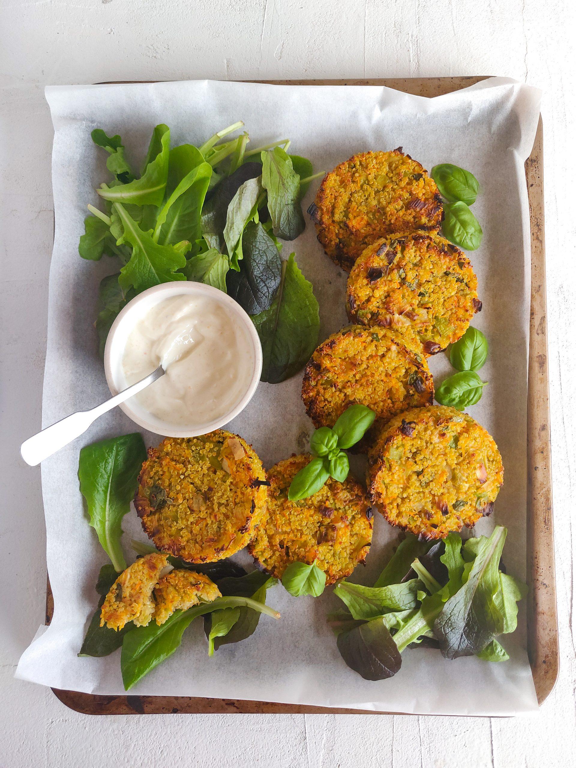 Read more about the article Galettes de quinoa au basilic