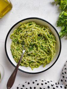 Read more about the article Spaghetti à la crème au persil