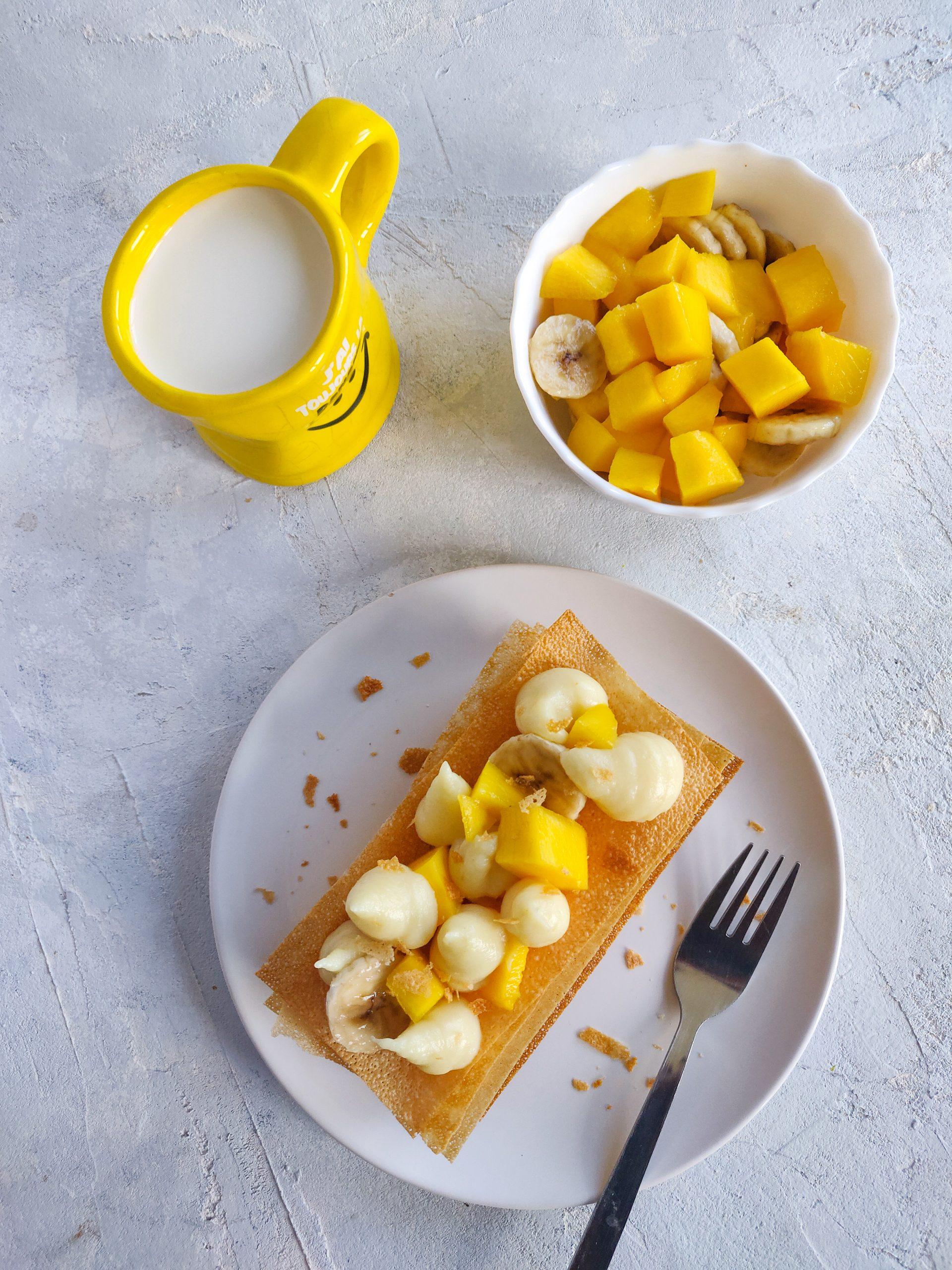 Read more about the article Millefeuille à la mangue et banane