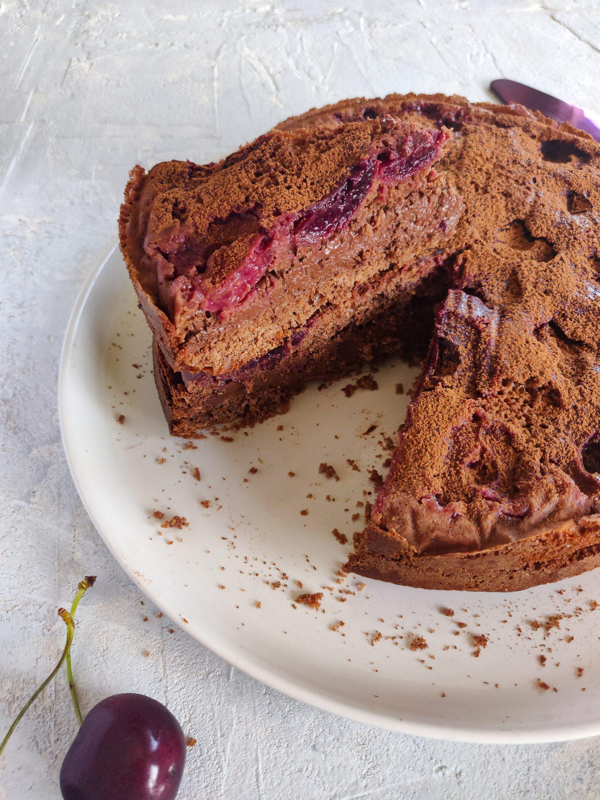 Read more about the article Gâteau aux cerises et au chocolat