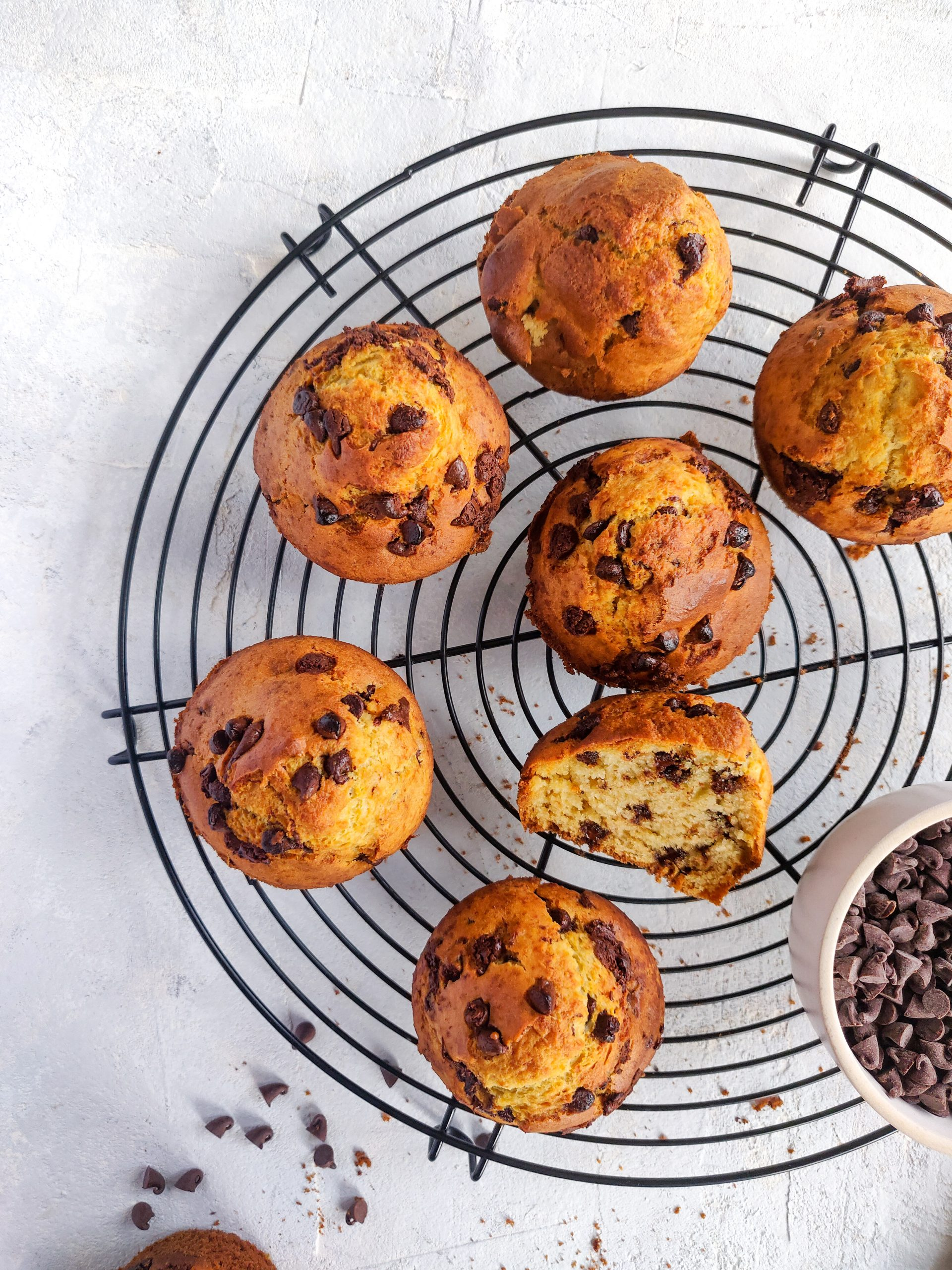 Read more about the article Muffins aux pépites de chocolat