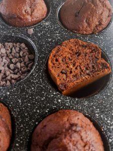 Read more about the article Muffins à la banane et au chocolat