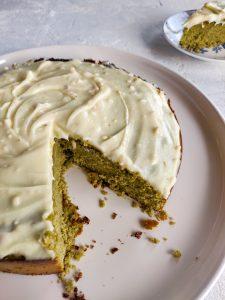Read more about the article Gâteau au matcha et au chocolat blanc